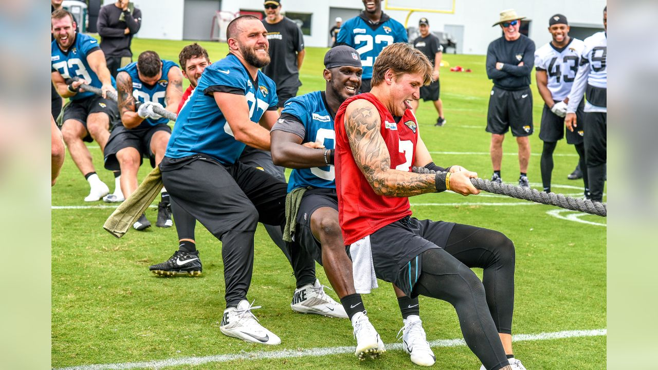 Jacksonville Jaguars during an OTA practice session Friday, May 31, 2019 at TIAA Bank Field in Jacksonville, Fl. (Rick Wilson/Jacksonville Jaguars)