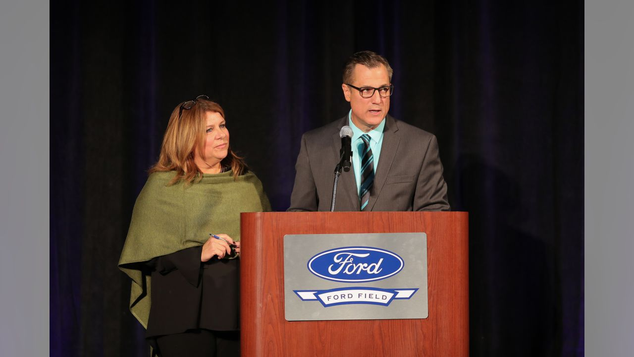 Jen Hammond and Dan Miller at the Courage House dinner on Monday, Oct. 29, 2018 in Detroit.