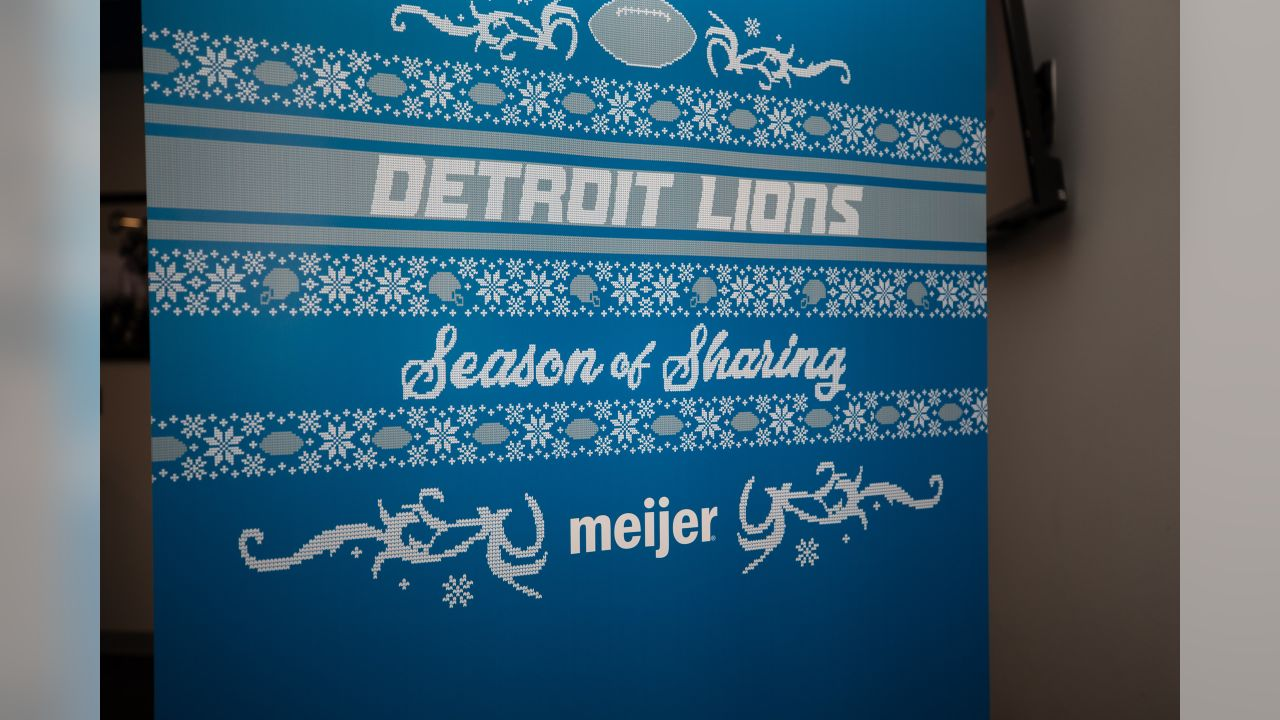 Annual Thanksgiving Dinner at Ford Field with families from Orchards, Children's Center and Yatooma as part of the Season of Sharing campaign presented by Meijer.