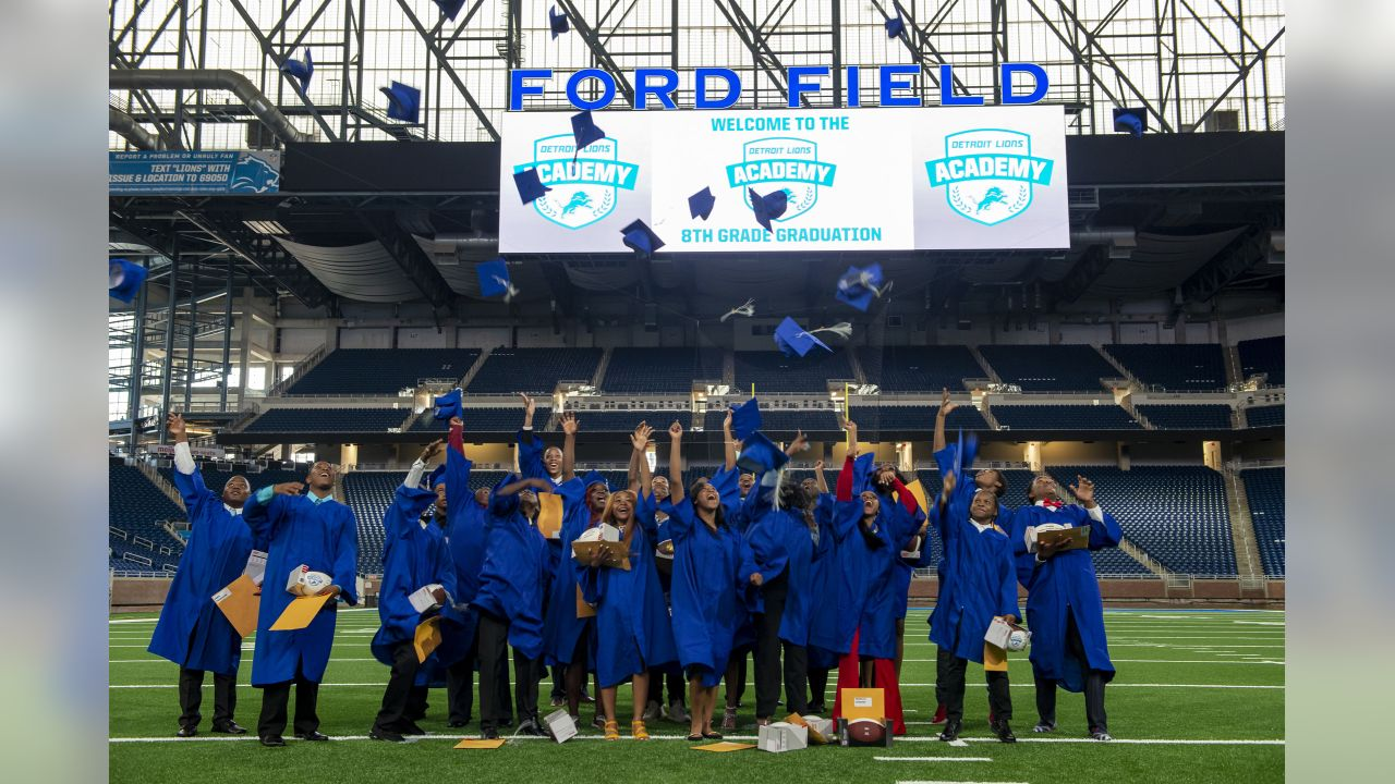 Detroit Lions Academy Graduation at Ford Field on Wednesday, June 19, 2019 in Detroit