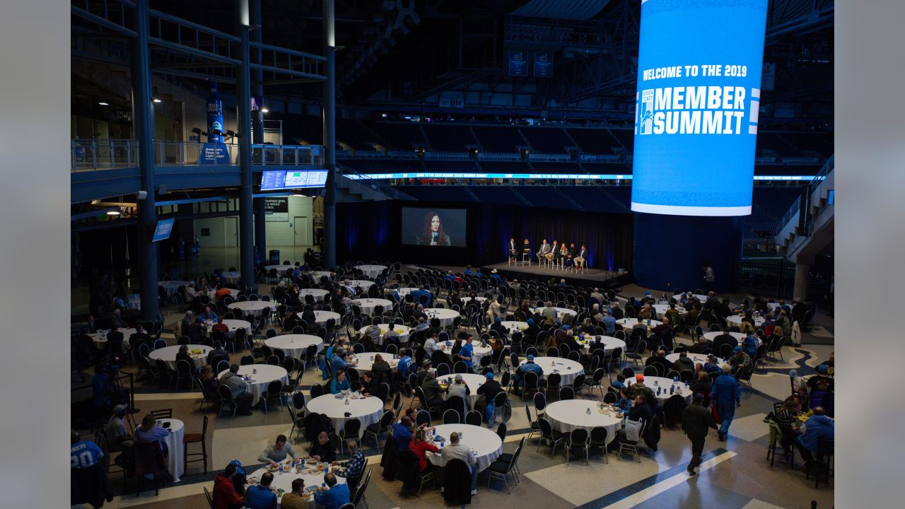 Fans enjoy the pre-show at the Season Ticket Member Summit on Monday, Feb. 11, 2019 in Detroit.