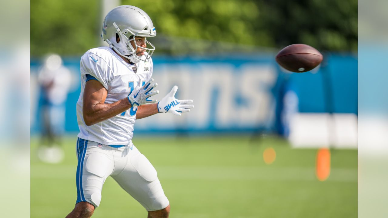 Detroit Lions wide receiver Golden Tate (15) during training camp practice on Friday, Aug. 3, 2018 in Allen Park, Mich. (Detroit Lions via AP)