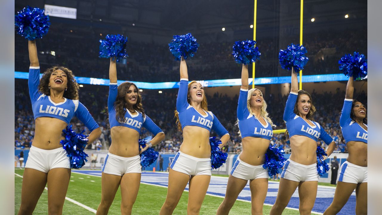 Detroit Lions Cheerleaders during a NFL football game against the New York Jets on Monday, Sept. 10, 2018 in Detroit. (Detroit Lions via AP).
