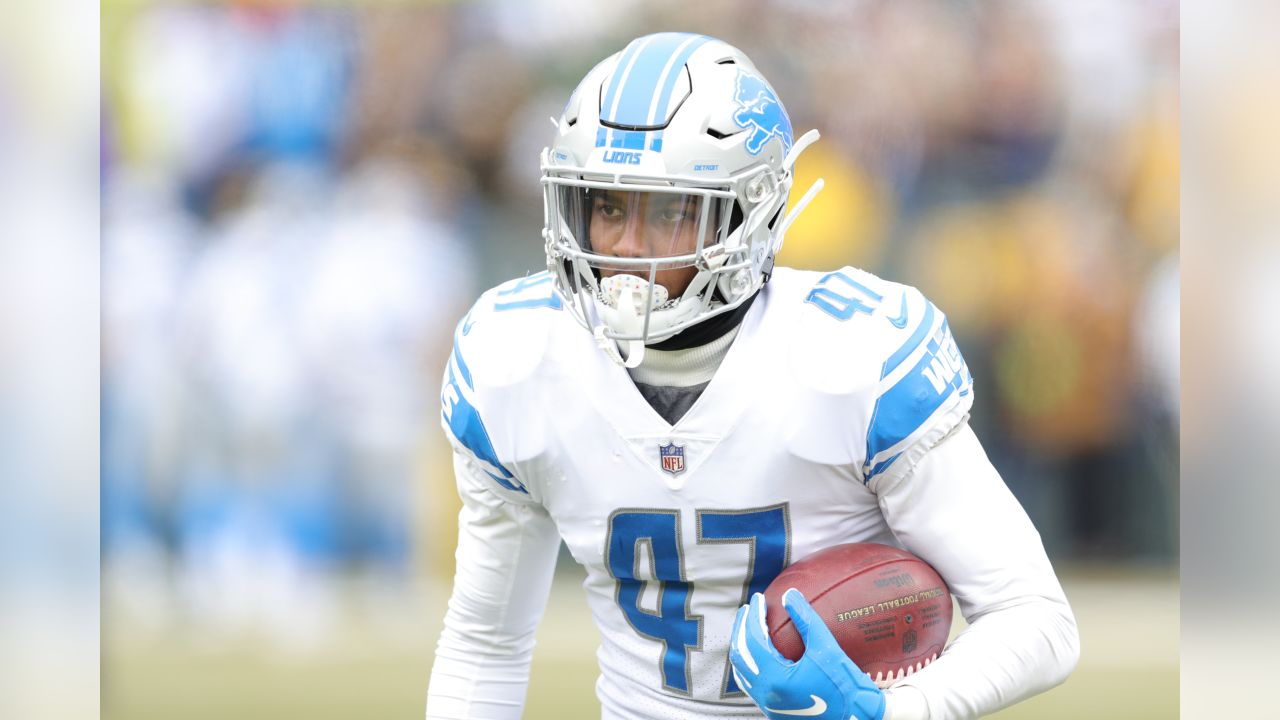 Detroit Lions defensive back Tracy Walker (47) before a NFL football game against the Green Bay Packers on Sunday, Dec. 30, 2018 in Green Bay, Wisc. (Detroit Lions via AP).