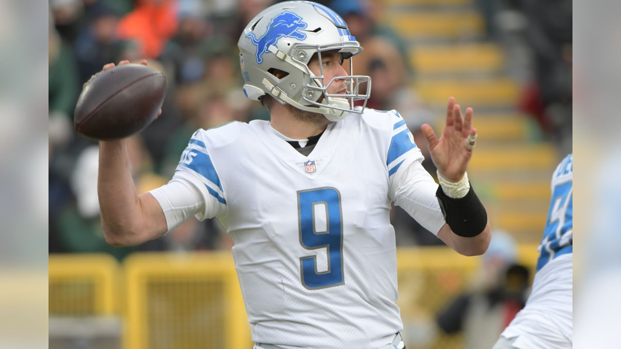 Detroit Lions quarterback Matthew Stafford (9) during a NFL football game against the Green Bay Packers on Sunday, Dec. 30, 2018 in Green Bay, Wisc. (Detroit Lions via AP).