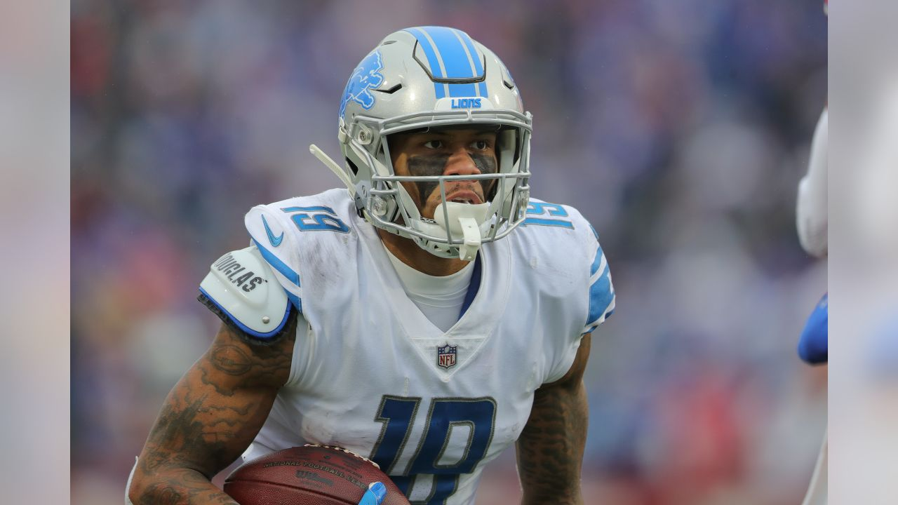 Detroit Lions wide receiver Kenny Golladay (19) during a NFL football game against the Buffalo Bills on Sunday, Dec. 16, 2018 in Orchard Park, N.Y. (Detroit Lions via AP).
