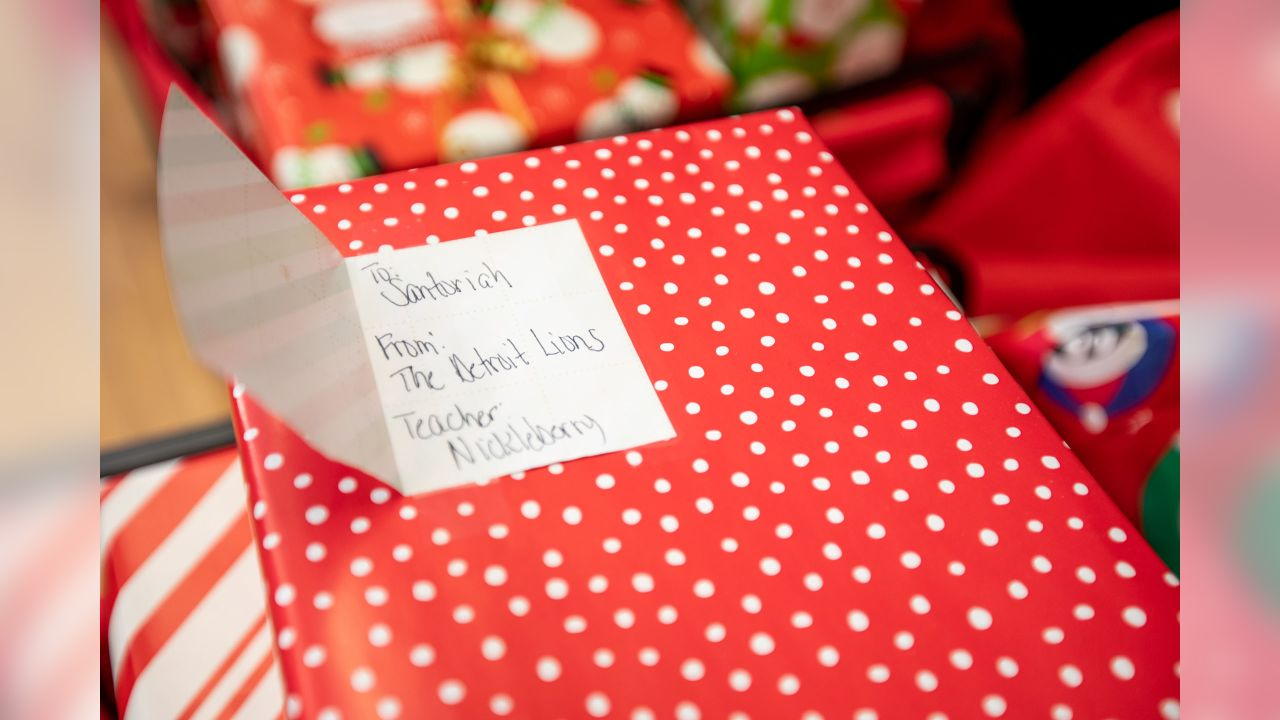 Holiday gifts for students at Mary McLeod Bethune Elementary-Middle School on Tuesday, Dec. 18, 2018 in Detroit.