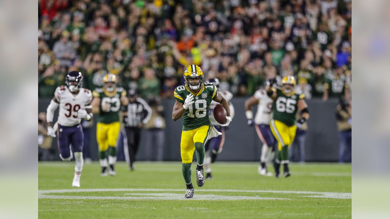 Green Bay Packers against the Chicago Bears  during the season opener at Lambeau Field on Sunday night.