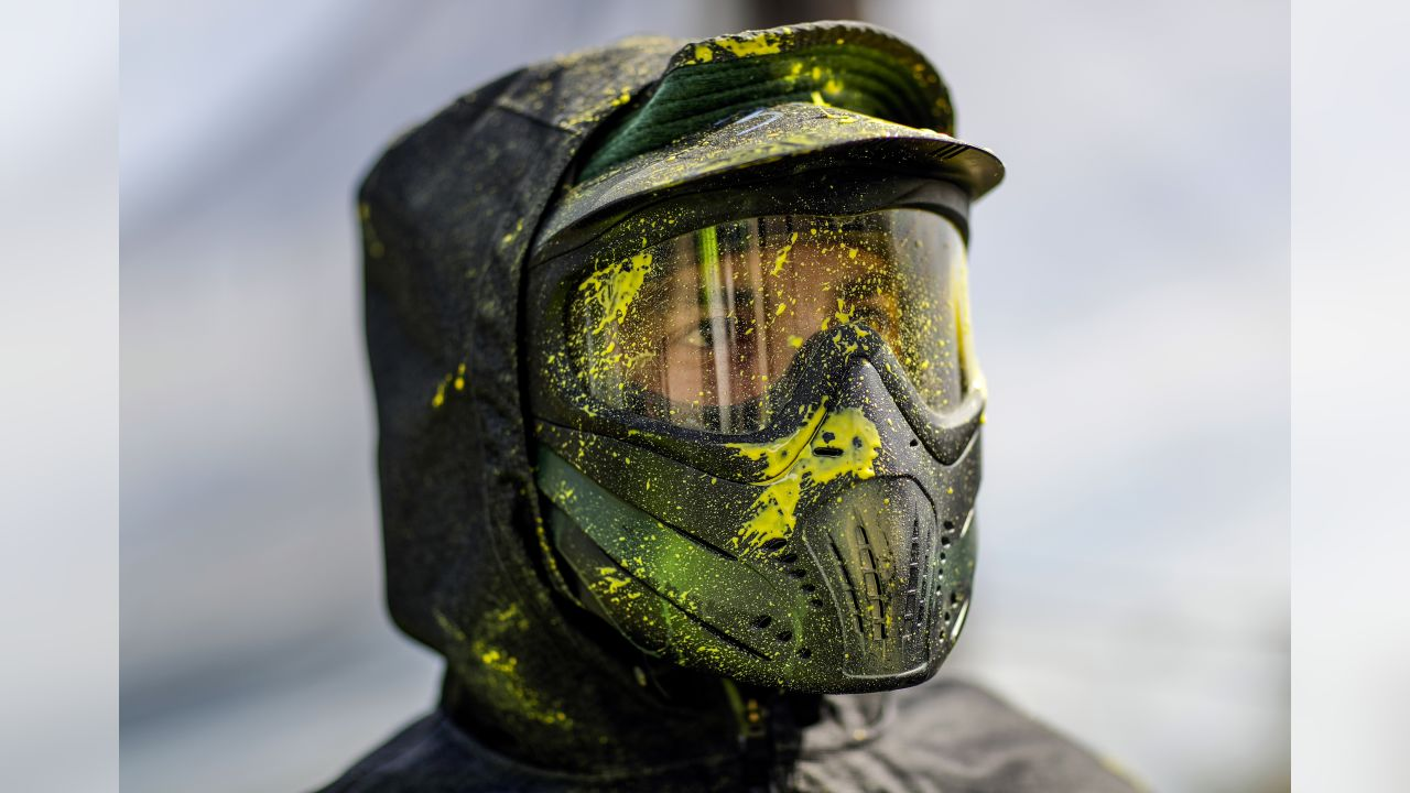 Green Bay Packers go paintballing in Suamico on Thursday, June 13, 2019.