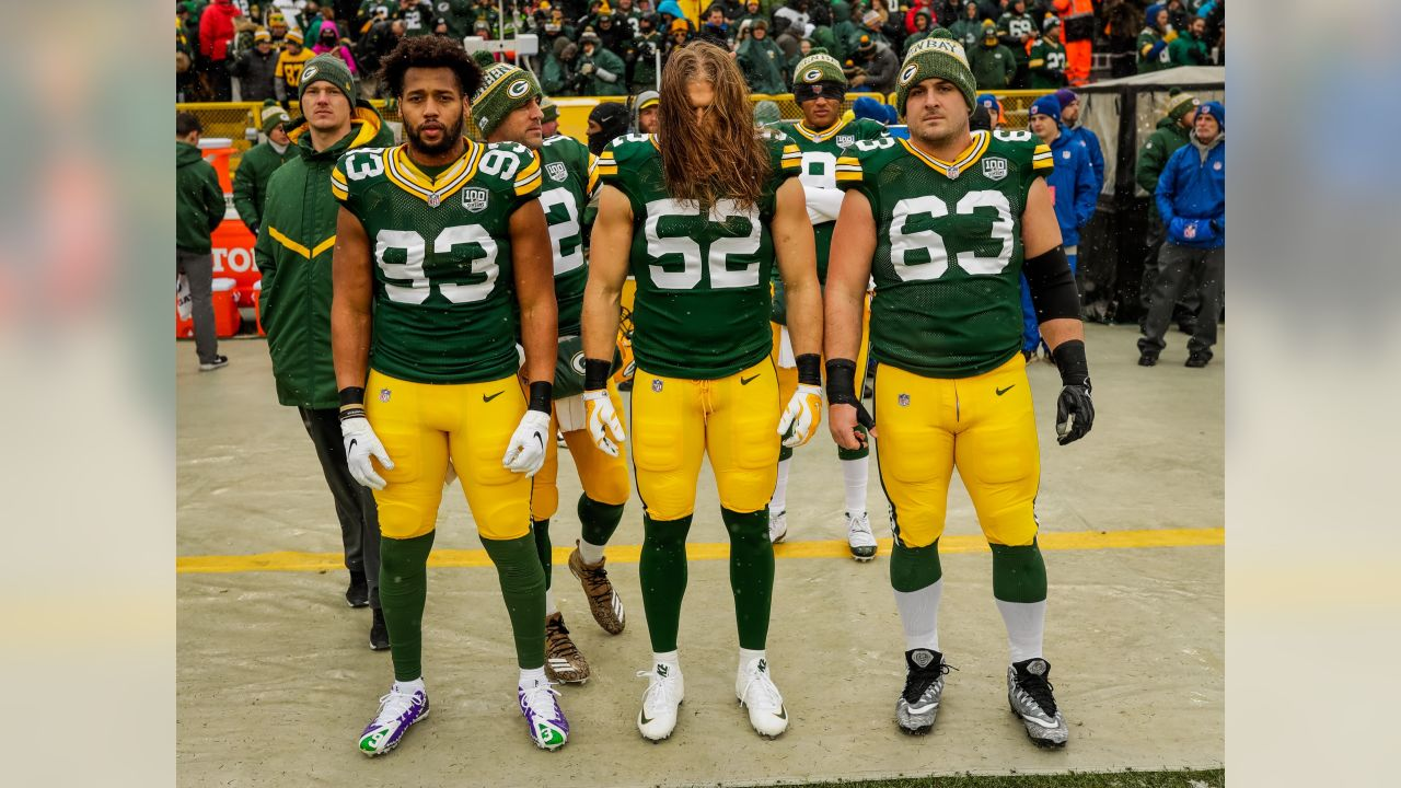 Week 13 vs. Arizona Cardinals   LB Reggie Gilbert, LB Clay Matthews, C Corey Linsley