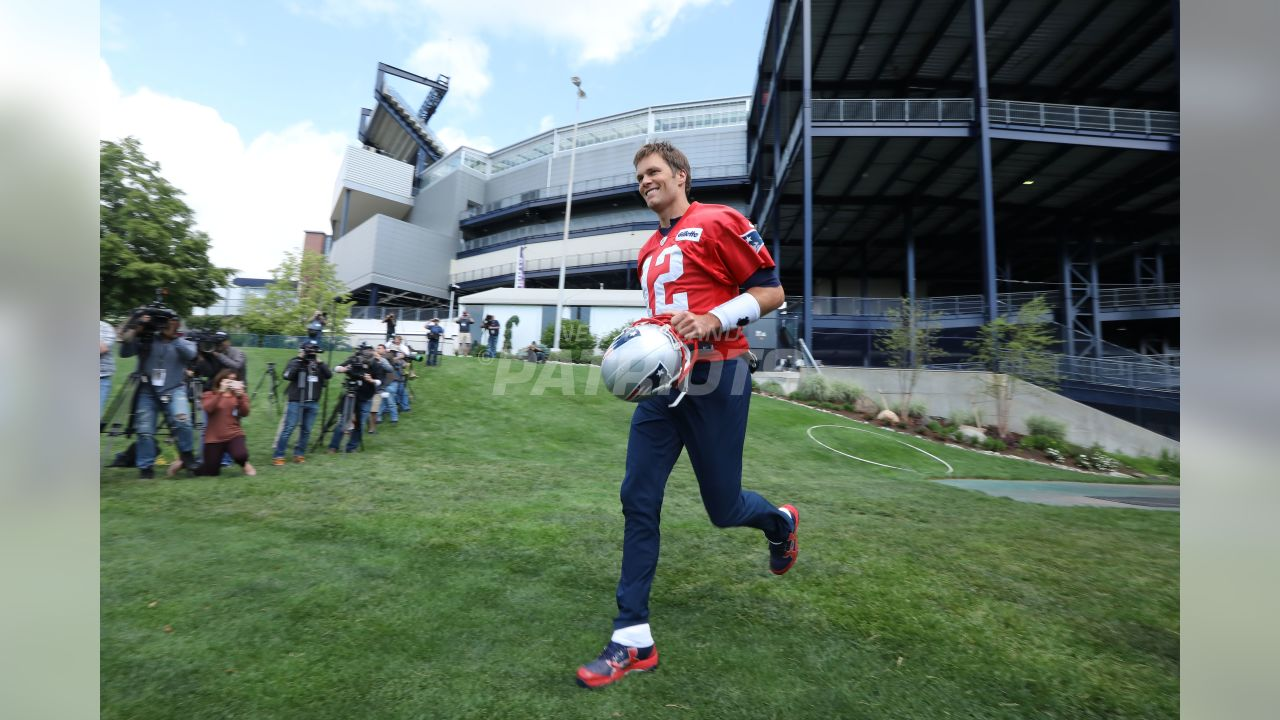 Tom Brady takes the field.