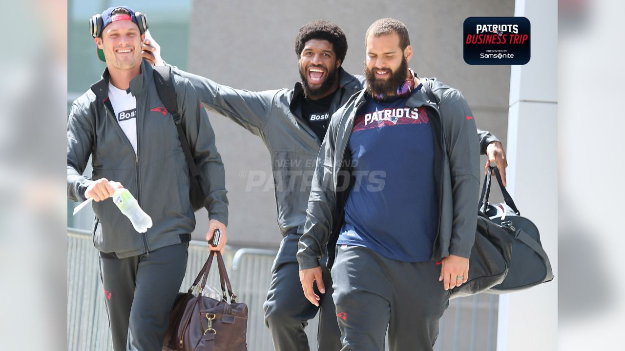 Chris Hogan, Deatrich Wise Jr., and Lawrence Guy.