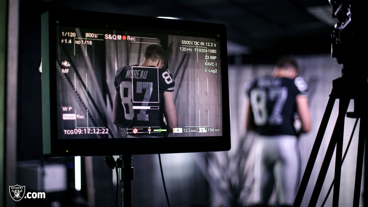 Behind the scenes from the Oakland Raiders media day, Monday, June 10, 2019, at the the Oakland Raiders Practice Facility in Alameda, Calif.