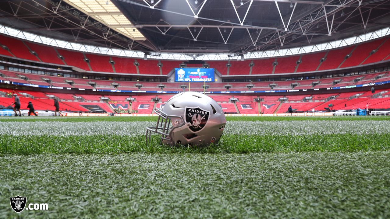 The Oakland Raiders regular season game against the Seattle Seahawks at Wembley Stadium, Sunday, October 14, 2018, in London, England.