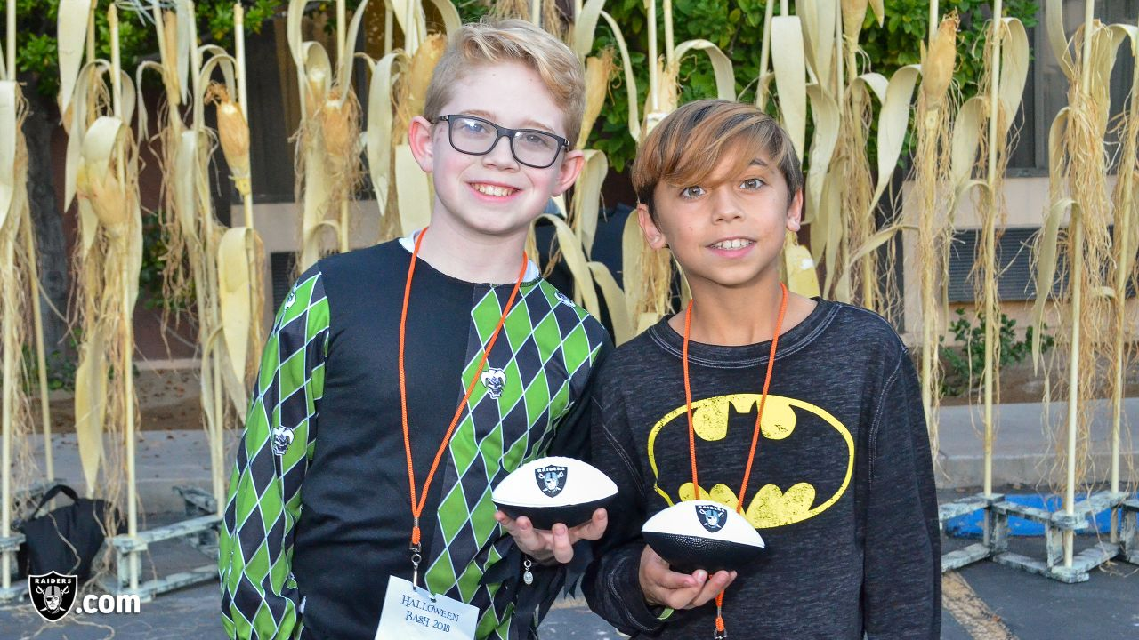 The Raiders join Candlelighters Childhood Cancer Foundation of Nevada for their 2018 Halloween Bash at Ellis Island Hotel by transforming a front vanity area into a safe, easy to navigate space for families to trick-or-treat in, Thursday, October 25, 2018, in Las Vegas, Nevada.