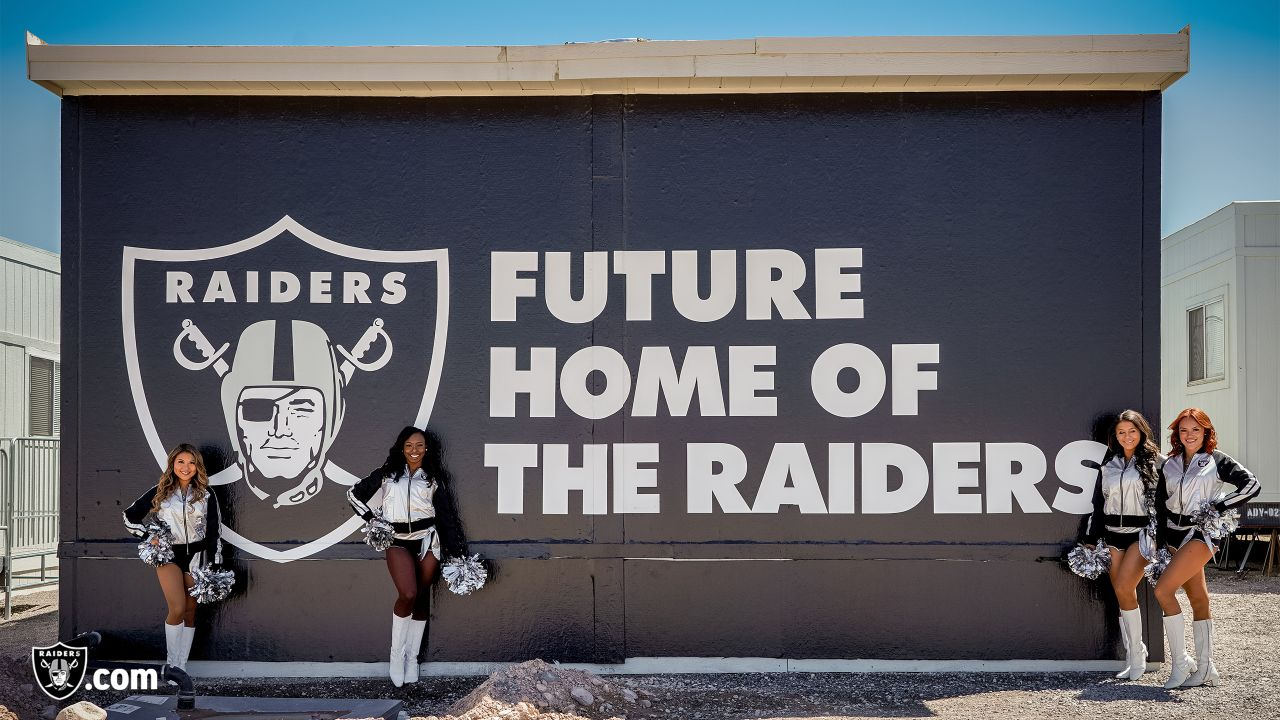 Staff members from the Raiders front office spend the day with construction workers of the Henderson Headquarters worksite by handing out lunches and sharing a meal.