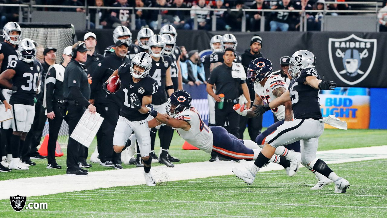 Raiders wide receiver Trevor Davis (11) during the regular season game against the Chicago Bears at Tottenham Hotspur Stadium.