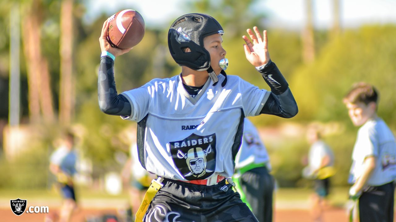 Boys and girls compete in the NFL FLAG powered by USA Football Regional Tournament, in partnership with the Raiders, Saturday, November 3, 2018, in Las Vegas, Nevada. Winning youth teams will advance to the NFL FLAG Championships at the 2019 Pro Bowl in Orlando, Florida.