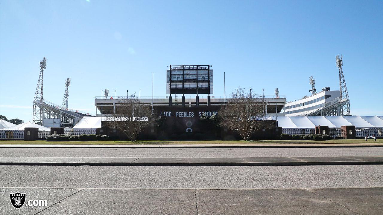 Ladd-Peebles Stadium, the stadium for the 2019 Senior Bowl, Tuesday, January 22, 2019, in Mobile, Alabama.
