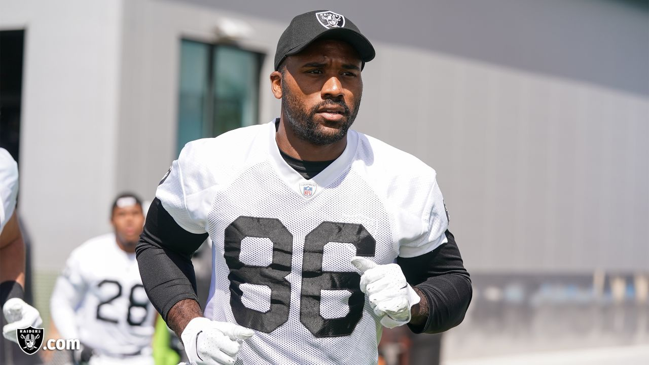 Raiders tight end Erik Swoope (86) at an Organized Team Activity (OTA) at the Raiders Practice Facility in Alameda, Calif.