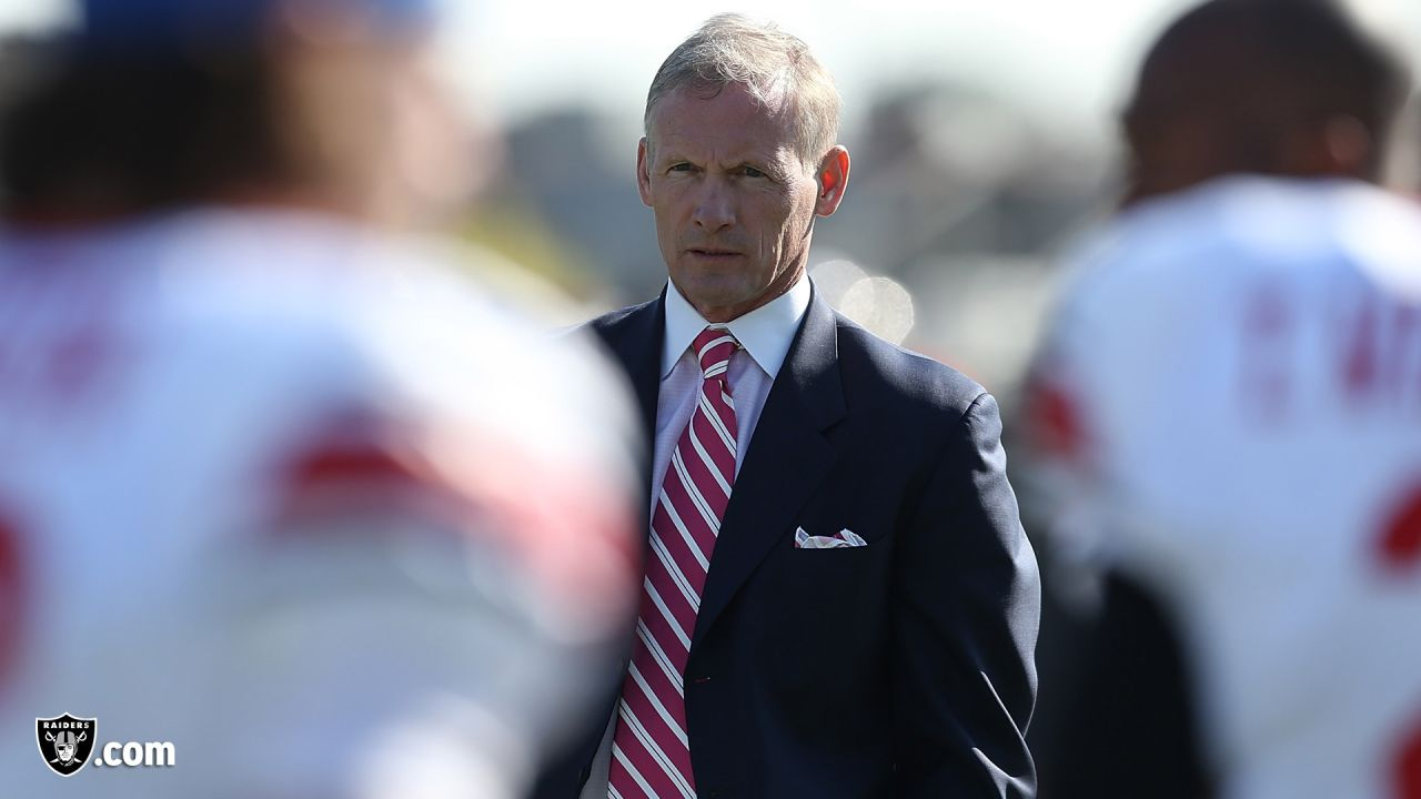 See photos of new Raiders GM Mike Mayock from his time serving as an Emmy-nominated analyst and draft expert for NFL Network since 2004.