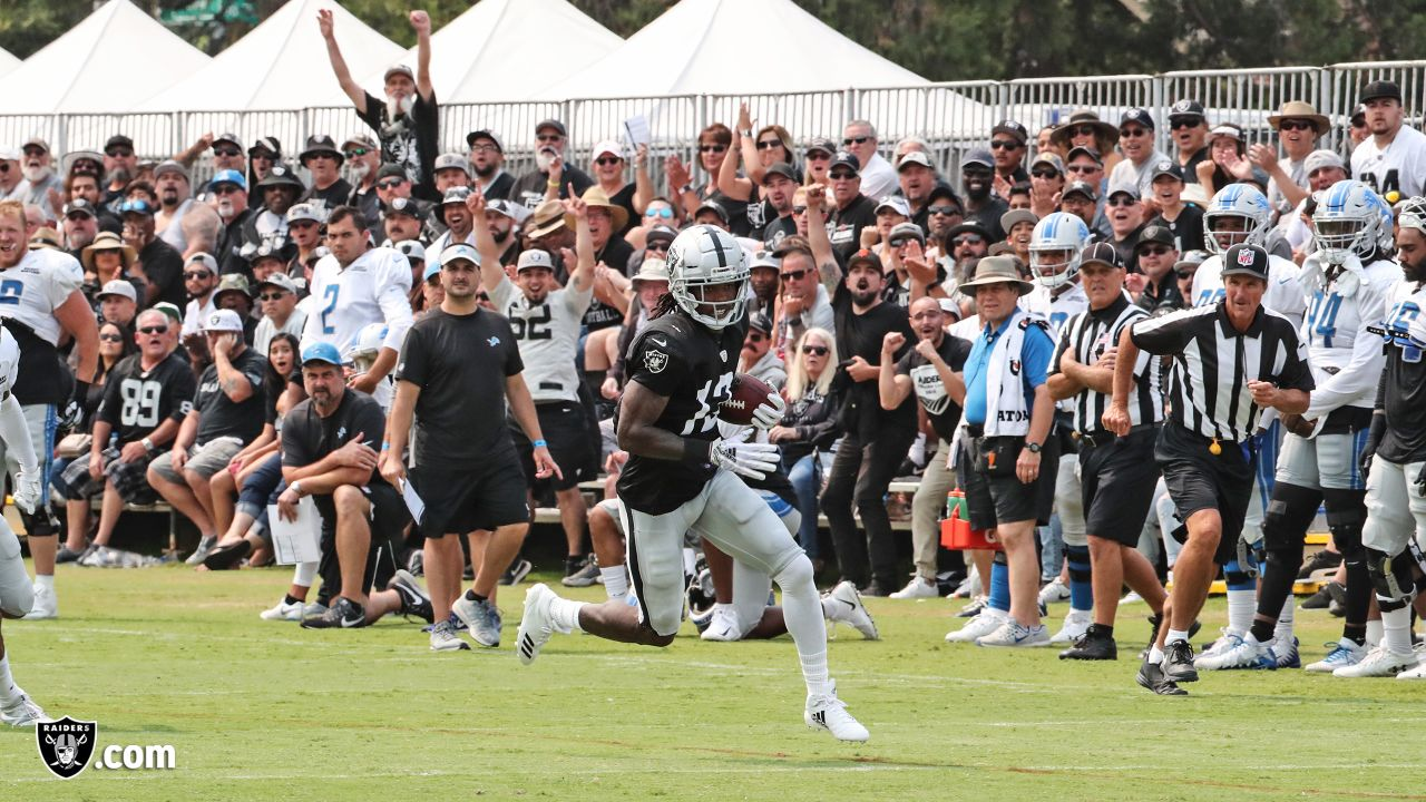 Oakland Raiders wide receiver Martavis Bryant (12) on the field for practice at 2018 Training Camp at The Oakland Raiders Napa Valley Training Complex, Wednesday, August 8, 2018, in Napa, California.