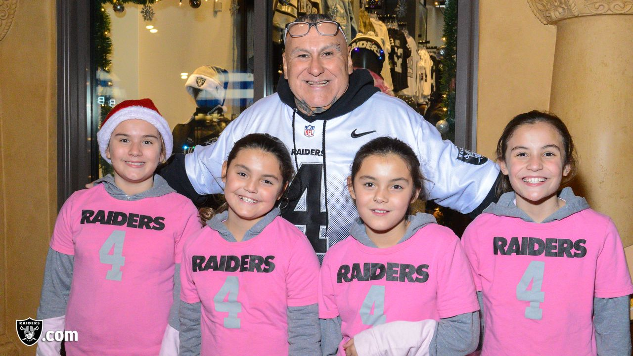 The Raiders Foundation hosts a Toys for Tots drive at the Raider Image in Town Square where guests have a chance to meet alumni Cliff Branch and Jerry Robinson in exchange for a toy or monetary donation to the organization, Friday, December 14, 2018, in Las Vegas, Nevada.