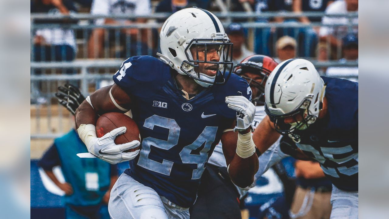 Penn State running back Nick Scott (24) returns a punt during the first half an NCAA college football game against San Diego State in State College, Pa., Saturday, Sept. 26, 2015. (AP Photo/Gene J. Puskar)