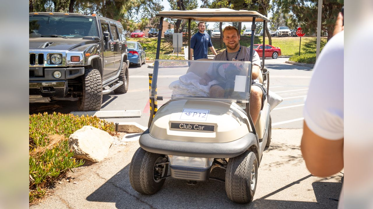 Rookies and Quarterbacks of The Los Angeles Rams arrive at the University of California Irvine for Training Camp 2018 in Irvine, CA on Monday, July 23rd. (Rams/Hiro Ueno)