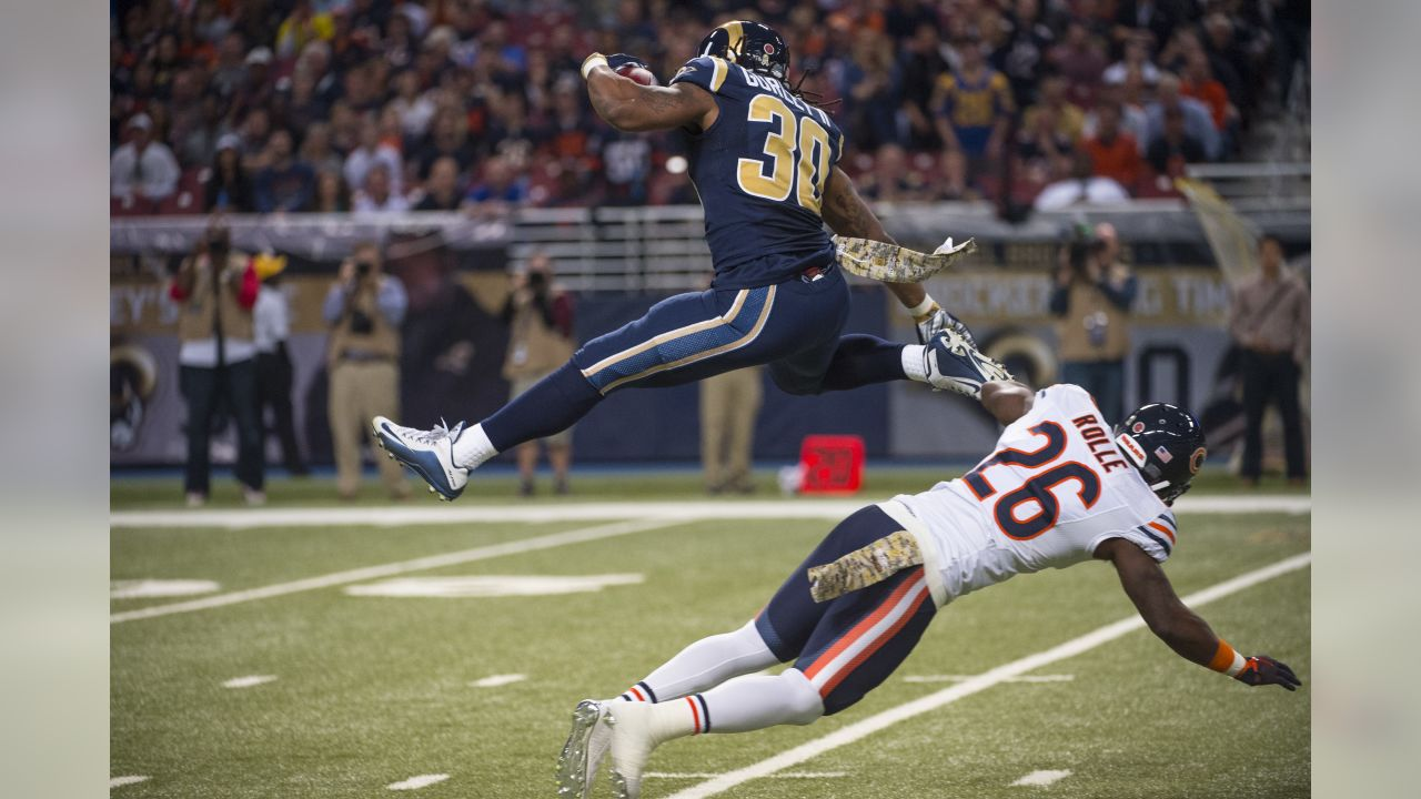 """""""St. Louis Rams running back Todd Gurley during the game against the Chicago Bears. (Photo by Scott Rovak/St. Louis Rams)"""""""
