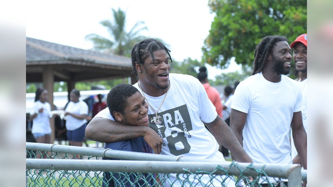 Lamar Jackson's 2nd Annual Fun Day at McNair Park in Pompano Beach, Fla.