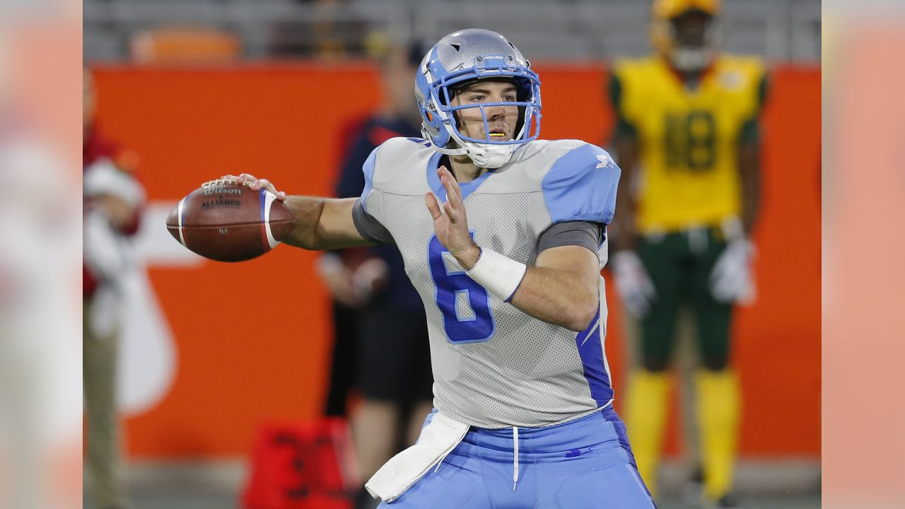**QB Josh Woodrum (Salt Lake Stallions)**   Woodrum became a Ravens fan favorite during the Ravens' 2017 preseason, pushing Mallett for the backup job. He didn't make the team that year, then returned last offseason before again being part of the Ravens' final cuts. He was the eighth-overall pick in the AAF quarterback draft and went 10-for 22 for 103 yards with one touchdown and one interception before leaving the game with a hamstring injury.