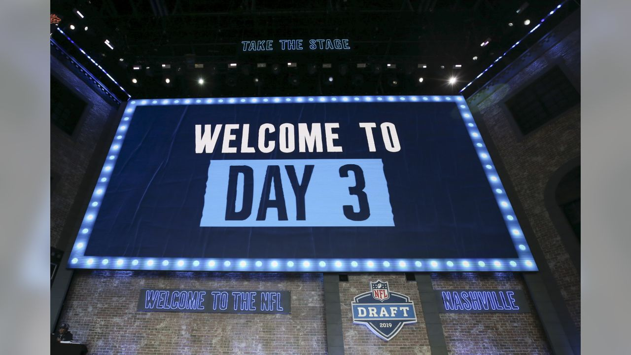 A general view on day 3 during the 2019 NFL Draft on Saturday, April 27, 2019 in Nashville, Tenn. (Perry Knotts/NFL)