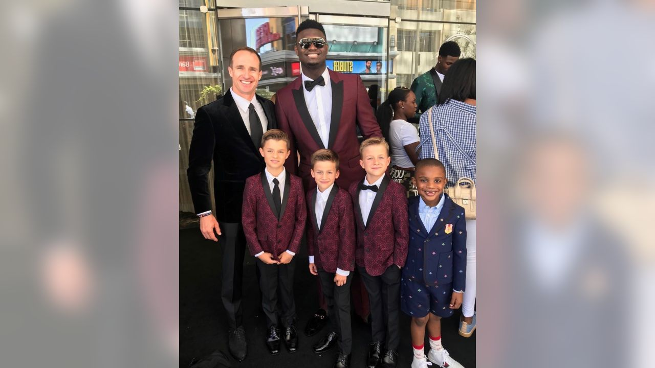 Drew Brees and New Orleans Pelicans draft pick Zion Williamson both took home an award at the 2019 ESPYs.