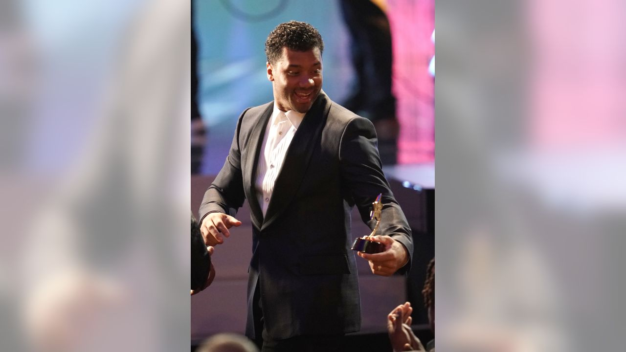 Russell Wilson of the Seattle Seahawks appears at the 8th Annual NFL Honors at The Fox Theatre on Saturday, Feb. 2, 2019, in Atlanta. (Photo by Paul Abell/Invision for NFL/AP Images)