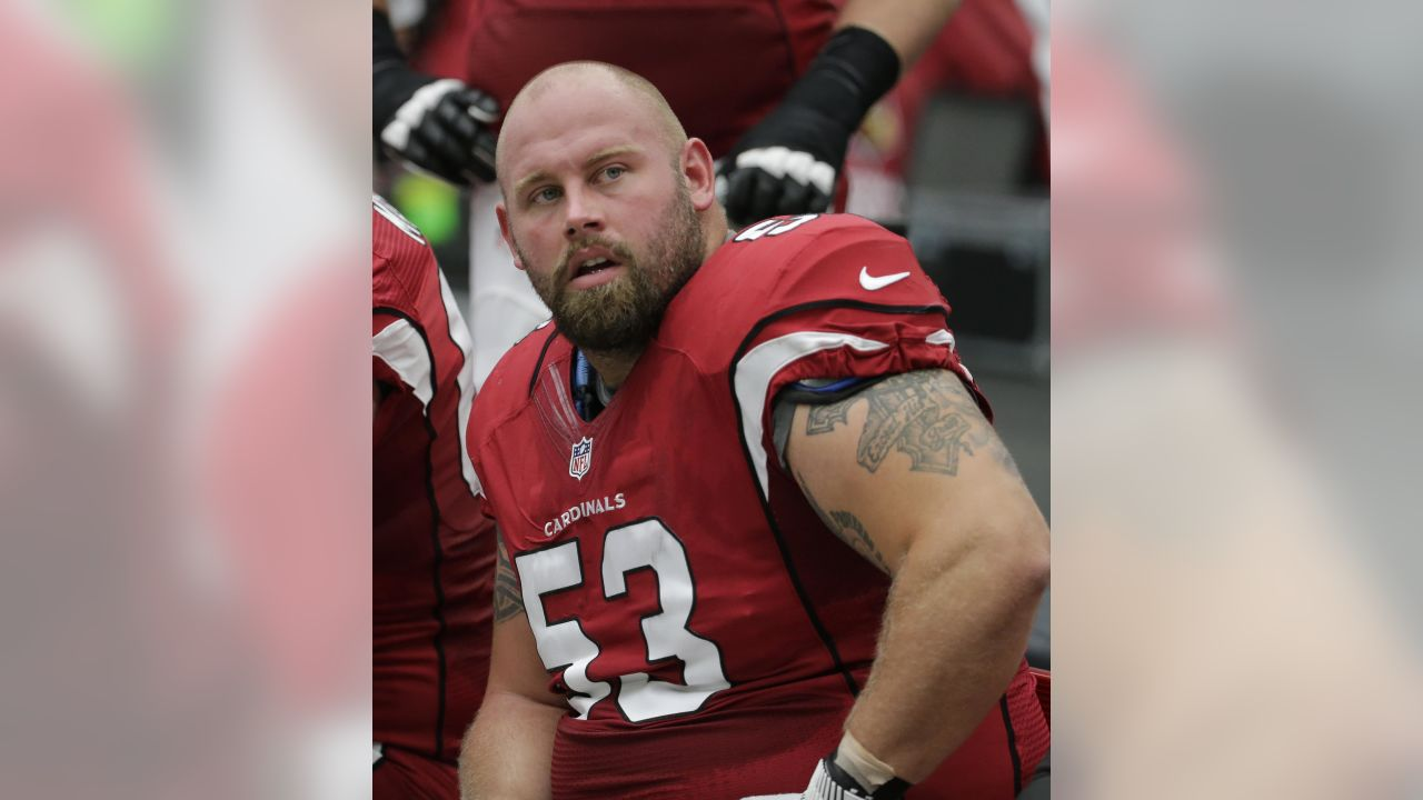 Arizona Cardinals center A.Q. Shipley (53) during an NFL football game against the Tampa Bay Buccaneers, Sunday, Sept. 18, 2016, in Glendale, Ariz. (AP Photo/Rick Scuteri)