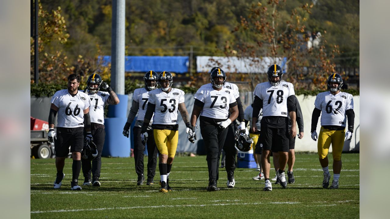 The Pittsburgh Steelers practice at the UPMC Rooney Sports Complex.