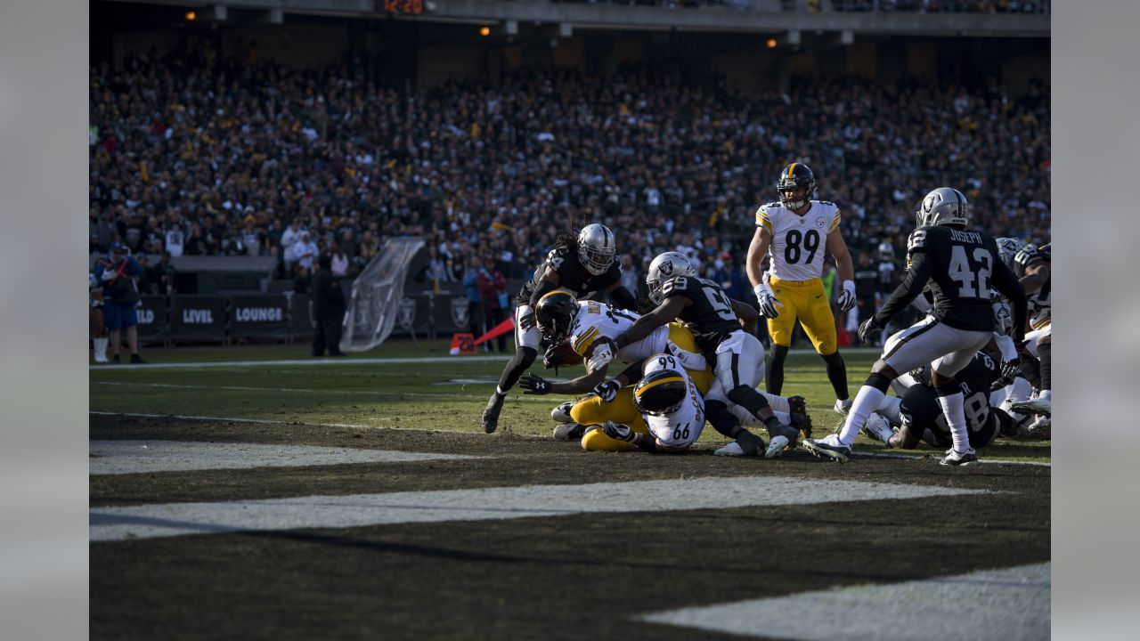 A 2018 Regular Season game between the Pittsburgh Steelers and the Oakland Raiders on Sunday, December 9, 2018.