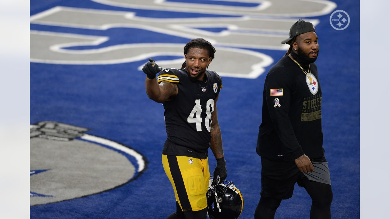 Pittsburgh Steelers linebacker Bud Dupree (48) during a regular season game between the Pittsburgh Steelers and the Dallas Cowboys, Sunday, Nov. 8, 2020 in Dallas, TX. (Caitlyn Epes / Pittsburgh Steelers)