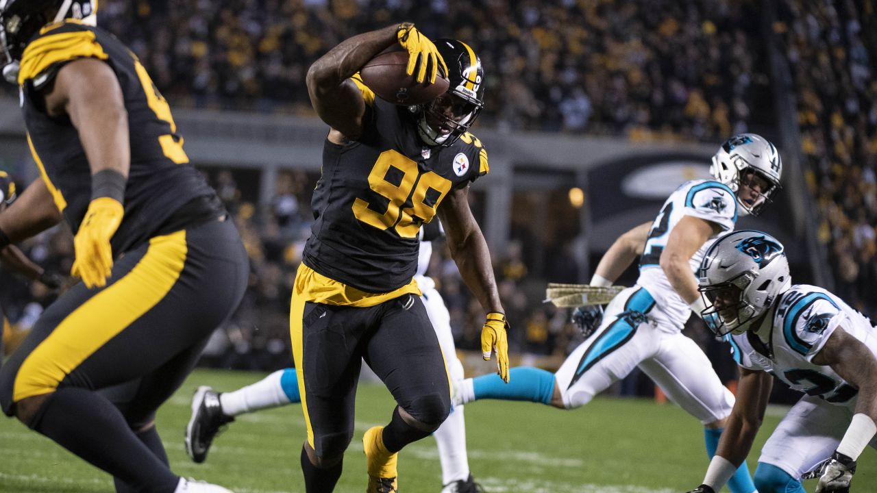 A 2018 Regular Season game between the Pittsburgh Steelers and the Carolina Panthers on November 8, 2018.