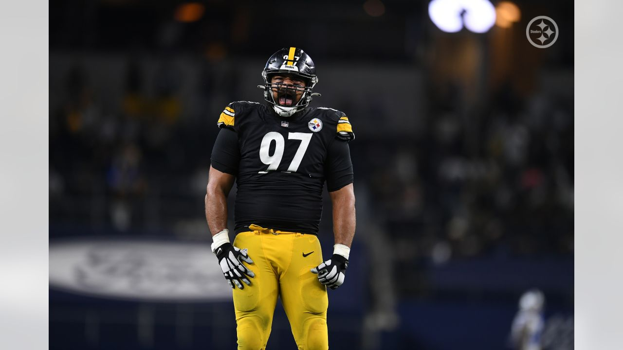 Pittsburgh Steelers defensive tackle Cameron Heyward (97) during a regular season game between the Pittsburgh Steelers and the Dallas Cowboys, Sunday, Nov. 8, 2020 in Dallas, TX. (Karl Roser / Pittsburgh Steelers)