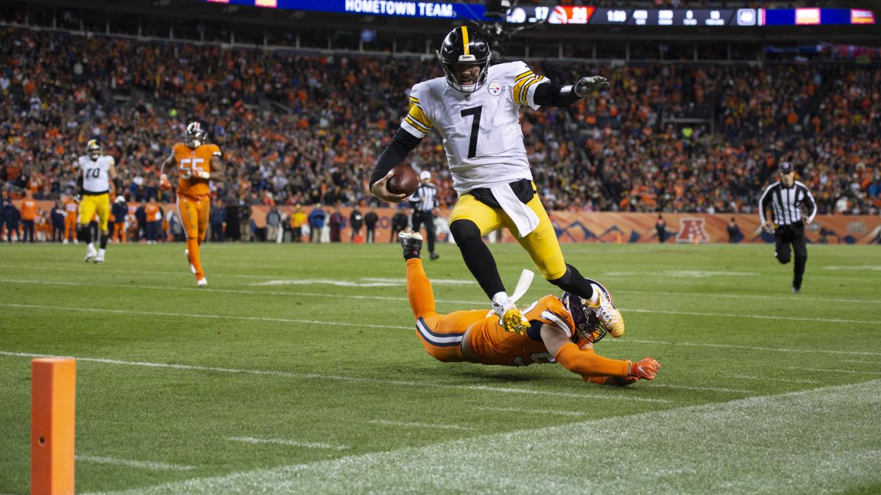 A 2018 Regular Season game between the Pittsburgh Steelers and the Denver Broncos on Sunday, November 25, 2018. The Broncos defeated the Steelers 24-17.