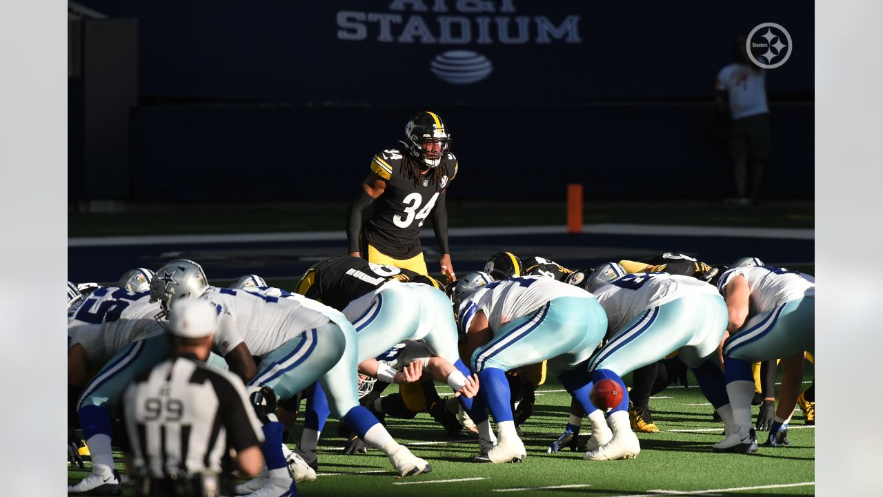 Pittsburgh Steelers safety Terrell Edmunds (34) during a regular season game between the Pittsburgh Steelers and the Dallas Cowboys, Sunday, Nov. 8, 2020 in Dallas, TX. (Caitlyn Epes / Pittsburgh Steelers)