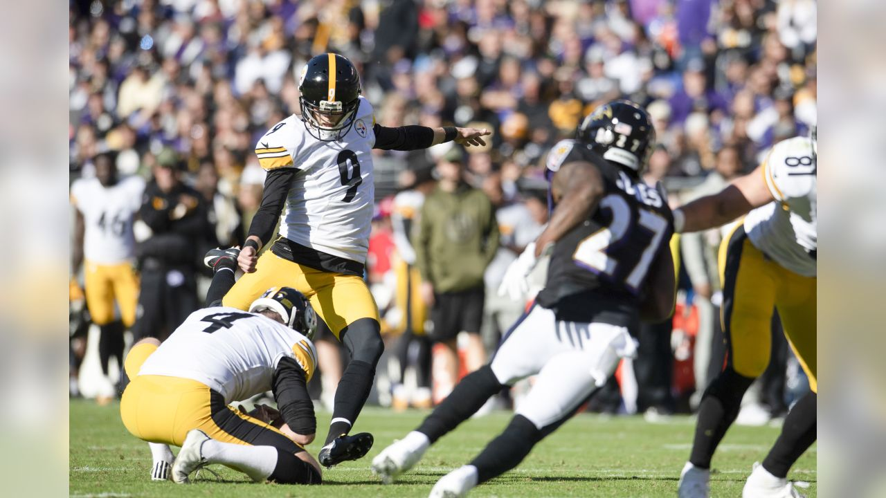 A 2018 Regular Season game between the Pittsburgh Steelers and the Baltimore Ravens on Sunday, November 4, 2018.