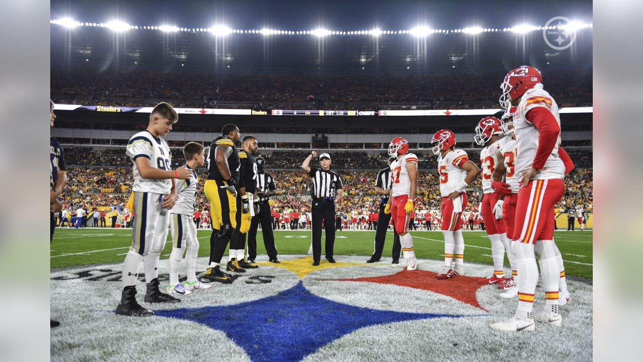A 2019 preseason game between the Pittsburgh Steelers and the Kansas City Chiefs on Saturday, August 17, 2019.
