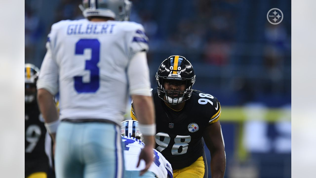 Pittsburgh Steelers linebacker Vince Williams (98) during a regular season game between the Pittsburgh Steelers and the Dallas Cowboys, Sunday, Nov. 8, 2020 in Dallas, TX. (Karl Roser / Pittsburgh Steelers)