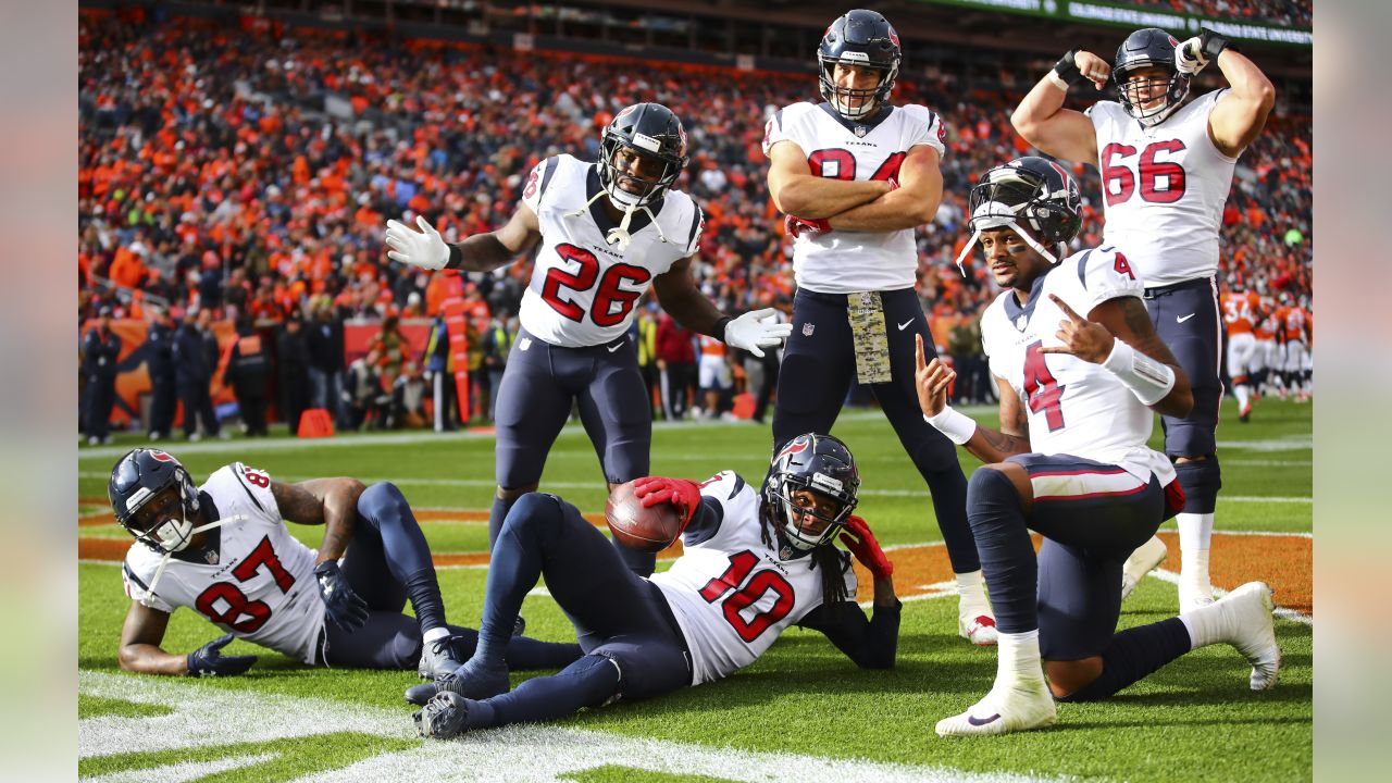 An image from the Nov. 4, 2018 regular season away game against the Denver Broncos.  The Texans won 19-17.