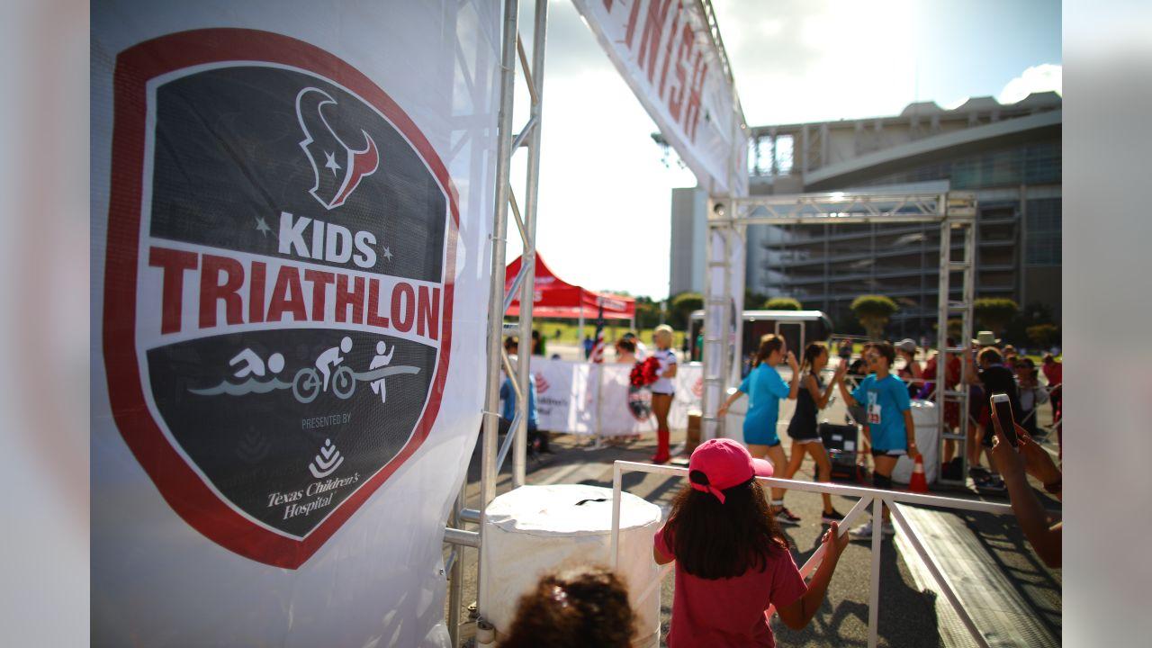 An image from the April 28, 2019 KidsÕ Triathlon at NRG Stadium in Houston, TX.