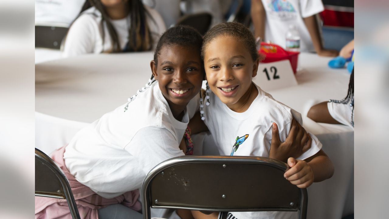 An image from the July 10, 2019 corporate development event at NRG Stadium. The Texans hosted a field trip for summer school students in partnership with ConocoPhillips and United Way.