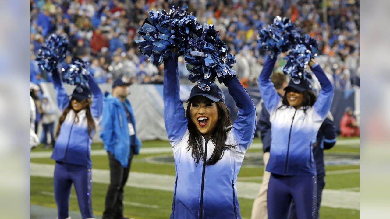 Tennessee Titans cheerleaders perform in the second half of an NFL football game between the Titans and the Indianapolis Colts Sunday, Dec. 30, 2018, in Nashville, Tenn. (AP Photo/James Kenney)